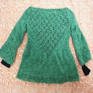 寒冷冬季也不能擋住愛鉤的心 好看又實用女士鉤針羊毛衫