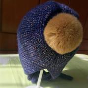 经典成人款毛球护耳帽编织方法