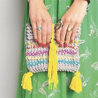 编织小手作 | 波西米亚风粗针织包包轻松可完成 手残党也无压力