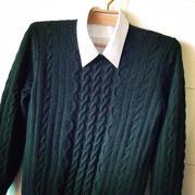 老款新织 从上往下织平肩男士羊绒衫