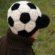 一款很漂亮的足球帽 儿童钩针有檐帽子188BET金宝搏教程