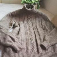 暖暖 黛貂男士棒针高领毛衣