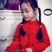 发财树 从下往上织起的儿童棒针育克圆肩毛衣