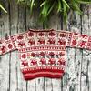 家用編織機SK280機織兒童棒針圣誕麋鹿提花毛衣(內含自制圖解)