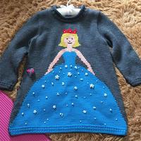 公主梦 儿童棒针A型长袖公主裙