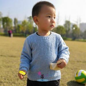 男色弟弟版 更适合小宝宝的儿童棒针圆领毛衣