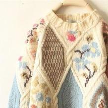 动人的花样与配色让这些毛衣款款都想让人抱回家(附花朵毛衣图案图解20款)