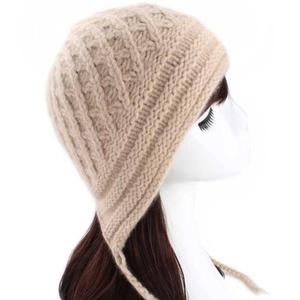 仿淘宝的女士棒针羊绒帽子