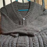 暖春 男士棒针外套开衫毛衣