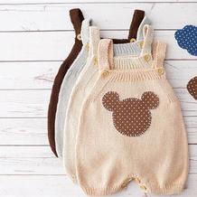 泡泡糖 SK280编织机机织宝宝背带裤