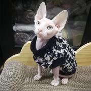 多比的新衣  sk280机织经典千鸟格宠物毛衣