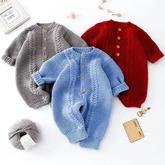 麦穗爬服(2-1)棒针婴幼儿连体衣编织视频教程