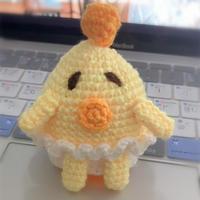 手工编织萌趣毛线钩针怂蛋蛋钥匙包