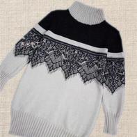 百搭可打底女士棒针中长款套头毛衣 简单新手可织