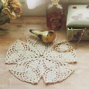 鳳梨花樣鉤針三角花片組合小墊布