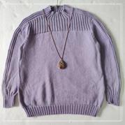 送奶奶的毛衣  从下往上织连肩袖套头毛衣