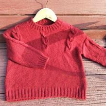 简单帅气儿童棒针直身款套头毛衣