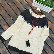 邪恶的小猫 可爱简洁女士棒针套头毛衣