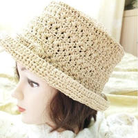 瑪奇亞 棉草編織女士鉤針禮帽