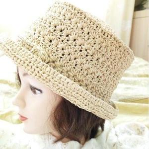 玛奇亚 棉草编织女士钩针礼帽