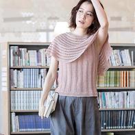 2019春夏新款手工编织带披肩的女士棒针背心