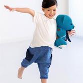 清新实用儿童棒针哈伦裤编织图解