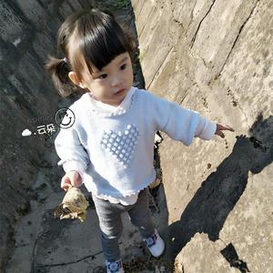 初心 可爱宝宝棒针爱心泡泡针中袖罩衫