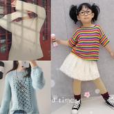 201914期周熱門編織作品:9款春夏女士兒童編織服飾