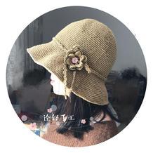 """""""帽""""美如花- 清凉亚麻女士钩针帽子"""