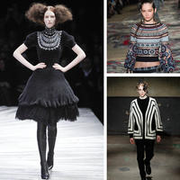 英国奢侈品牌Alexander McQueen 走秀编织服饰