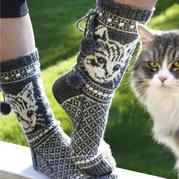 生動可愛貓咪圖案 棒針毛衣圖案圖解
