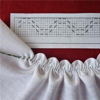 棒针或钩针编织搭配布料制作裙子 还可以多做这样一些小动作