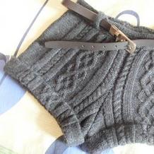 仿意大利1780元品牌短裤 女士棒针粗线扭花短裤
