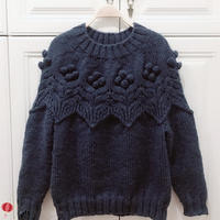 年织件珠珠衣 粗线织棒针豆豆针圆肩套头毛衣