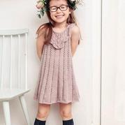 儿童棒针蕾丝花边连衣裙