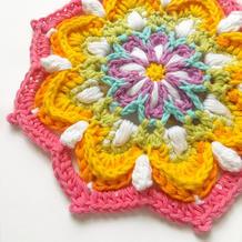 只要愿意谁都可以妙手生花 创意毛线钩针复古彩虹曼陀罗编织教程