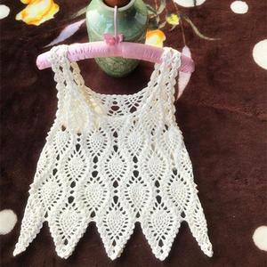 4股棉编织经典女士钩针菠萝小背心