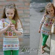 学会编织这件美衣相当于学会N件,你相信吗?一线连钩针祖母方格套衫