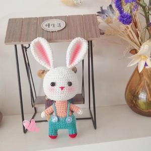 你好,兔先生 创意毛线钩针兔子玩偶图解教程
