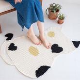 鏟屎官不容錯過的毛線編織物 創意毛線編織貓咪地墊