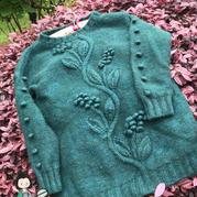 蔓綠絨 浮雕效果的葉子花女士棒針套頭毛衣