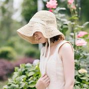 夏日棉草遮陽帽(3-1)大檐款 鉤針帽子編織視頻教程