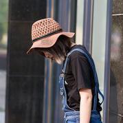夏日棉草遮阳帽(3-2)巴拿马款 钩针帽子编织视频教程
