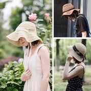 3款時尚夏日鉤針棉草遮陽帽