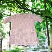 小仙女的云清棒針棕櫚花裙衫