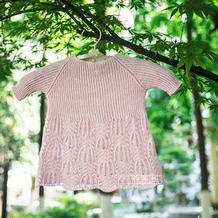 小仙女的云清棒针棕榈花裙衫