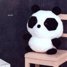 胖达来了~多边形花片拼缝而成的萌可爱钩针熊猫编织图解
