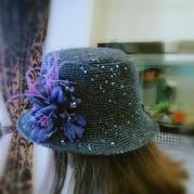 当棉草遇见亮片 夏款女士钩针遮阳帽