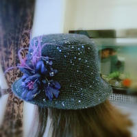 當棉草遇見亮片 夏款女士鉤針遮陽帽