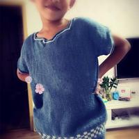 原创男童棒针提花短袖衫